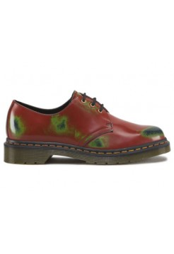 Ботинки женские Dr.Martens 1461 Red Green Navy Multi Colour Rub Off 10084607_49231