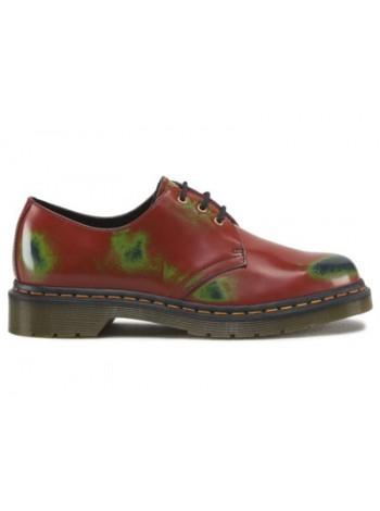Ботинки женские Dr.Martens 1461 Red Green Navy Multi Colour Rub Off 10084607_49231